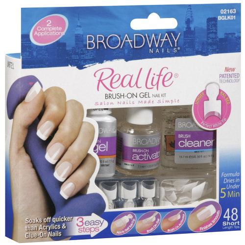Kiss Gel Nail Kit Review: Real Life Brush On Gel Nail Kit By Broadway Nails